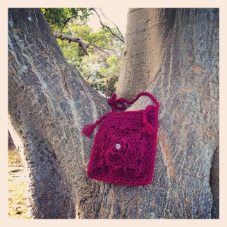 Burgundy Bower Bag