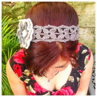 Grey Grasshopper Sparrow Headband Styling Tip